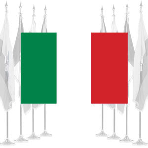 Italy Ceremonial Flags