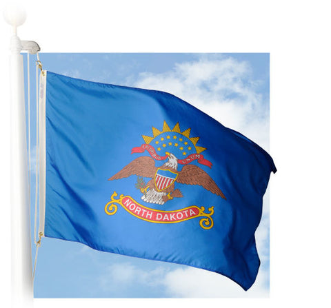 North Dakota Outdoor Flags