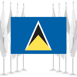 St. Lucia Ceremonial Flags