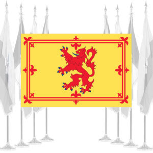 Scottish Rampant Lion Ceremonial Flags