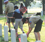 American - Stick Flags - Grave Marking
