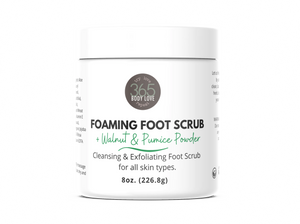 Foaming Foot Scrub (+ Walnut & Pumice Powder)