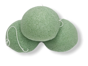 Green Tea Konjac Facial Sponge - Vegan/Biodegradable/Eco-Friendly