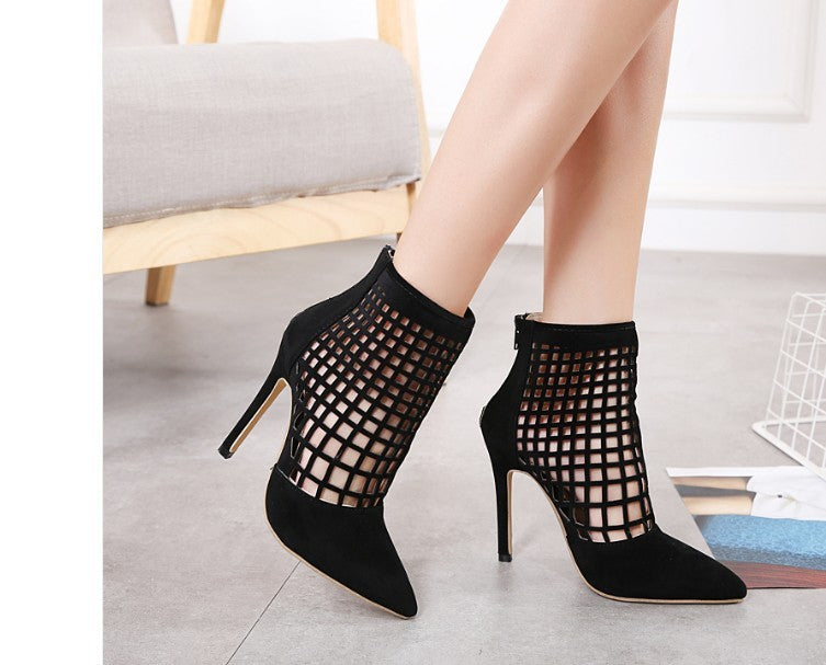 Cutout Cage Ankle Boots - Melrose Collection