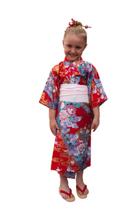 Girl's Kimono Princesses and Flowers