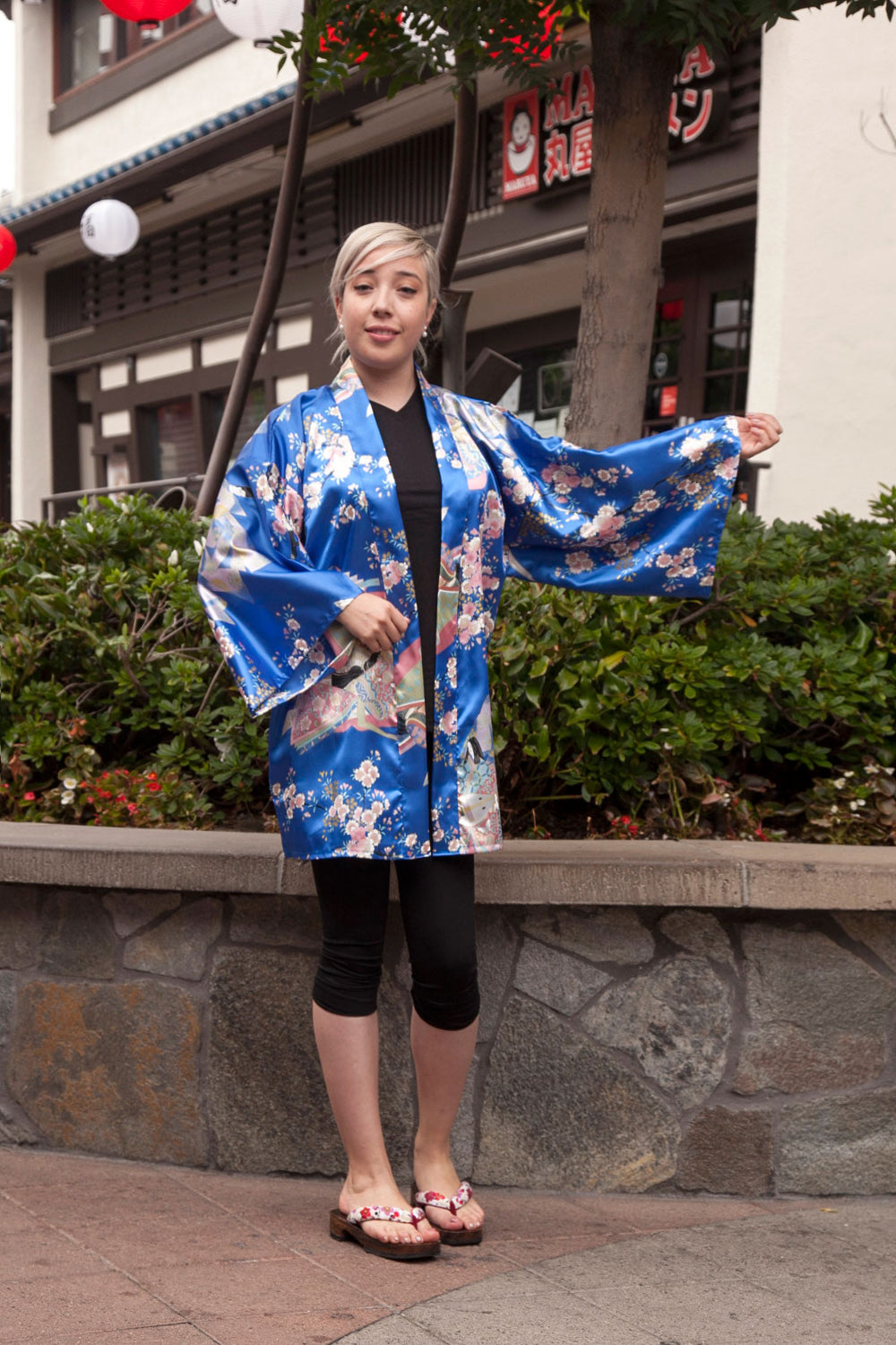 Women's Happi Coat Dynasty in Cherry Blossoms