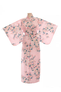 Women's Yukata  White Cherry Blossoms