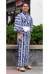 Men's Yukata Autumn Moon