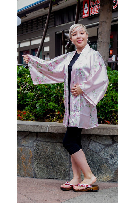 Women's Happi Coat Cherry Blossoms in Spring