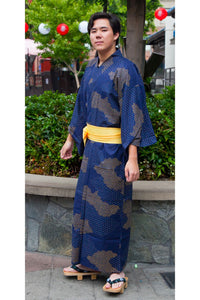 Men's Yukata : Cloud Pattern