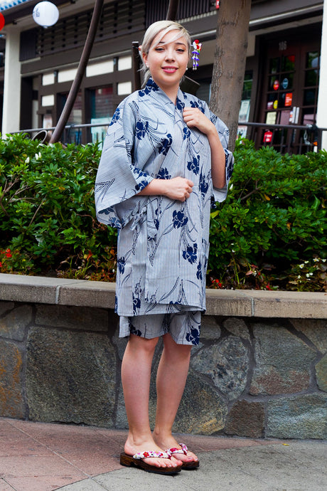 Women's Jinbei Set Iris & Stripe