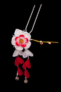 Kanzashi Small Flower Red