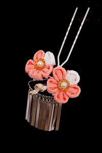 Kanzashi Small Flower Pink