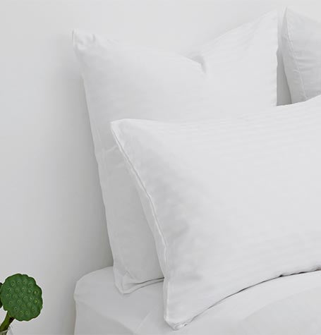 Guest Sateen Stripe Pillowcases 50/50 Cotton/Poly