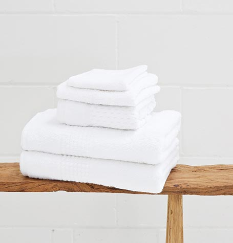 White Guest First Towel Range | 620gsm