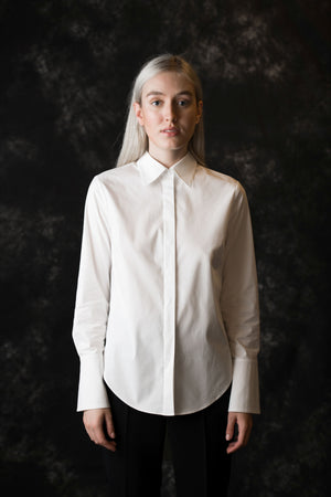 Ludlow Button Down women's white blouse - Less than none Greater than
