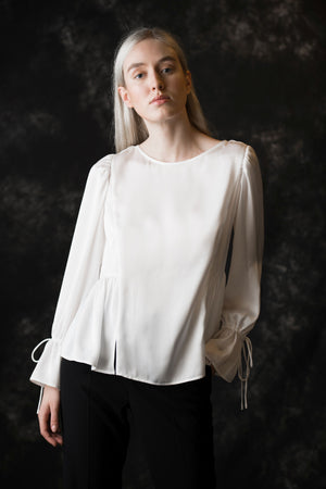 Christie Soft Women's white Blouse - Less than none Greater than