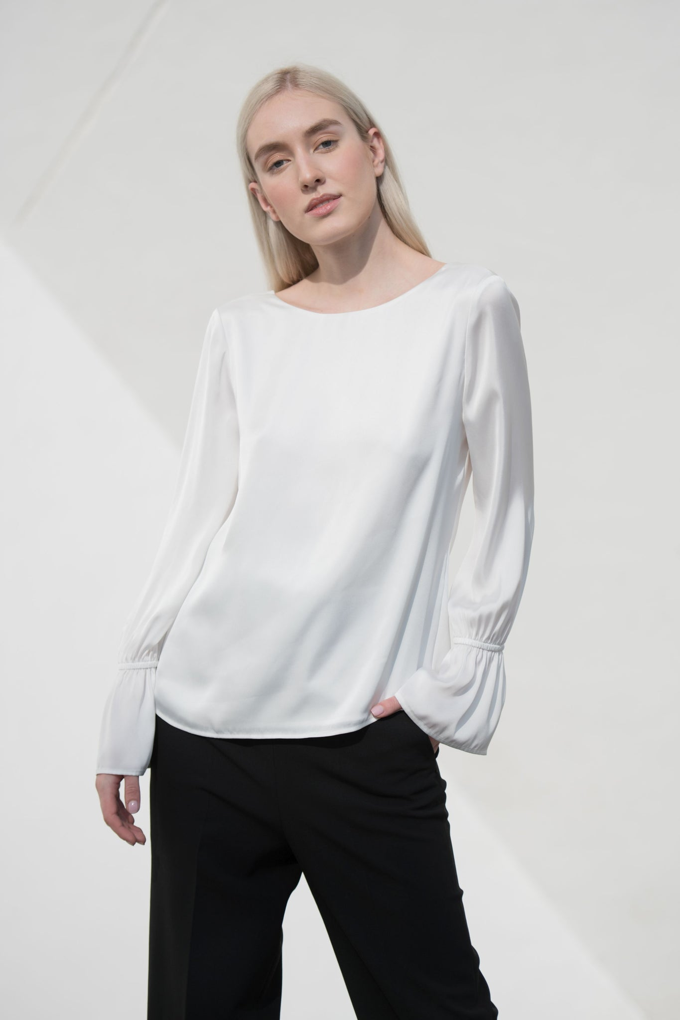 Madison women's Soft white Blouse - Less than none Greater than