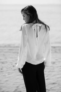 Jane Soft Blouse women's white blouse - Less than none Greater than