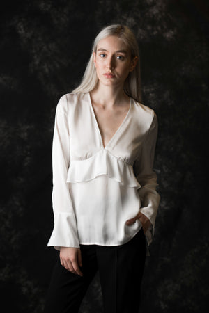 Elizabeth Soft Women's white Blouse - Less than none Greater than