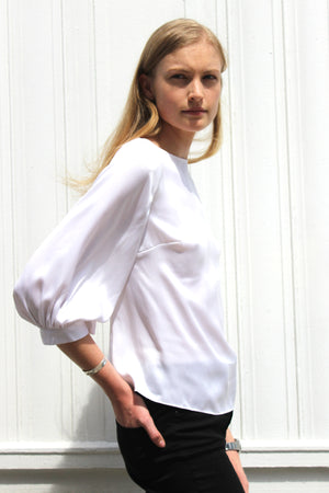 Washington Soft White Blouse for women - Less than none Greater than