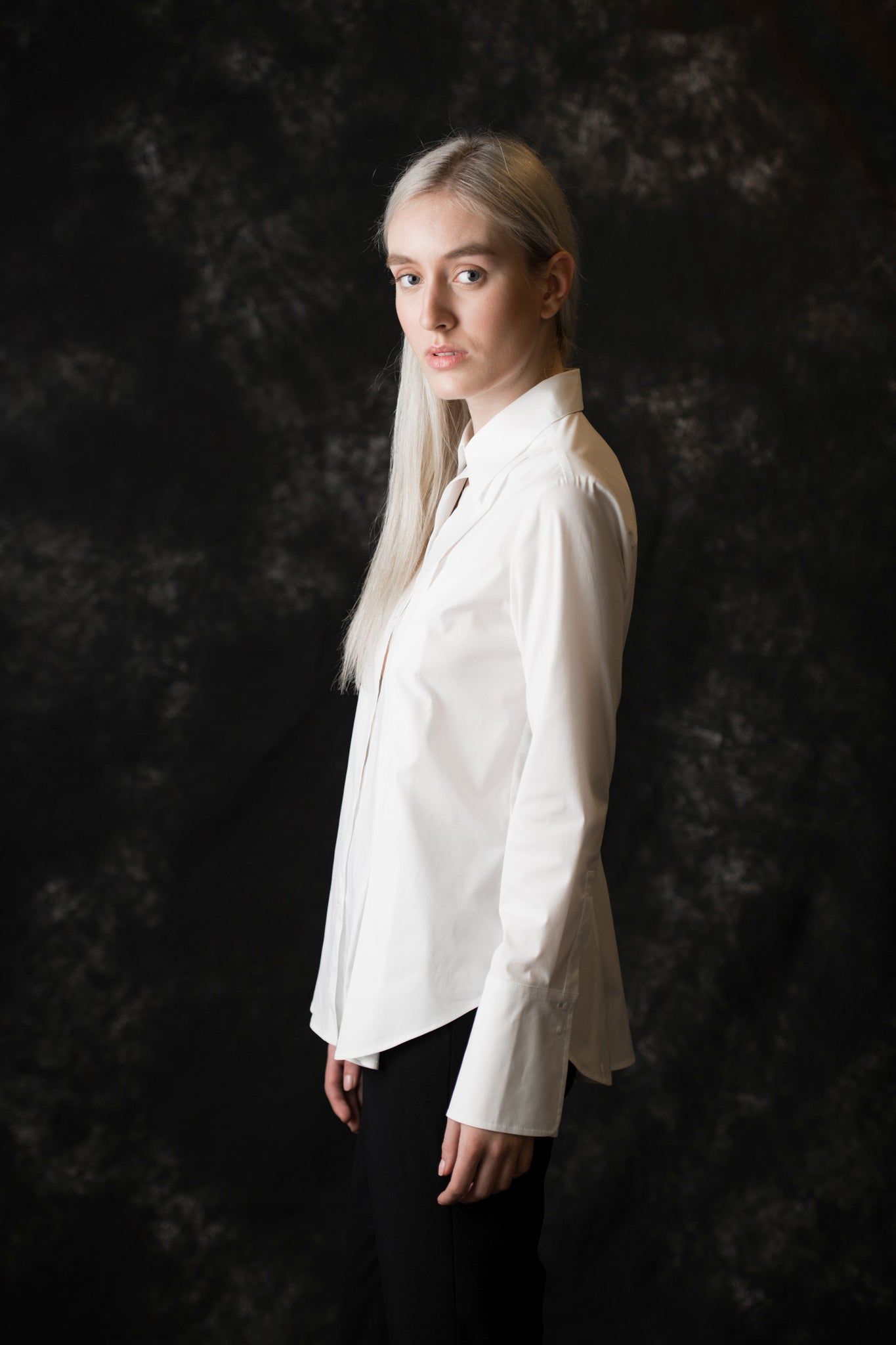 Perry Button Down women's white blouse - Less than none Greater than