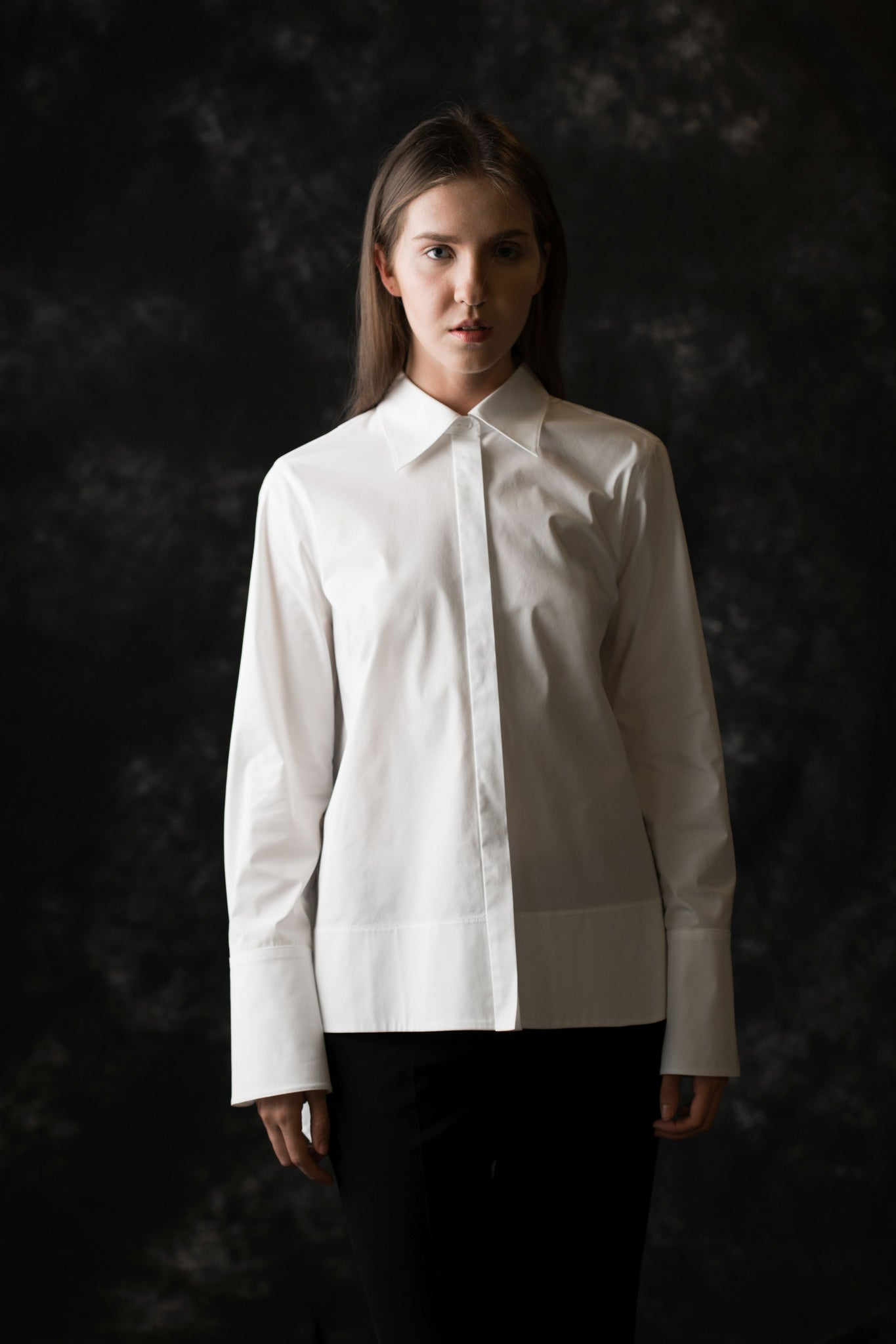 Waverly Button Down women's white blouse - Less than none Greater than