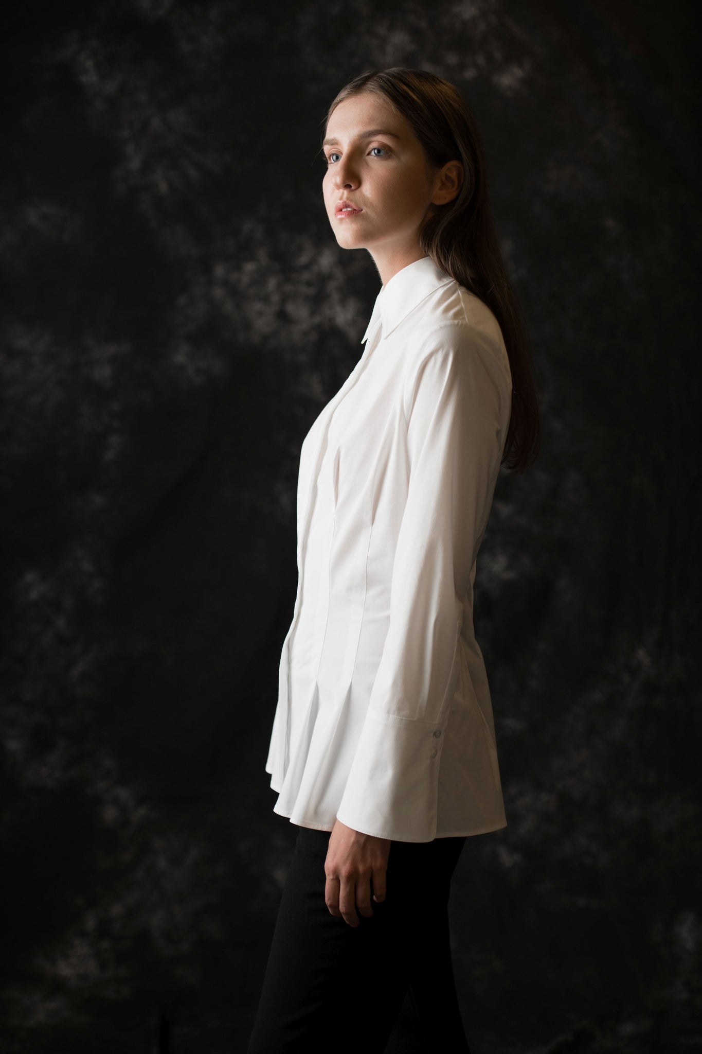 Rivington Button Down women's white blouse - Less than none Greater than