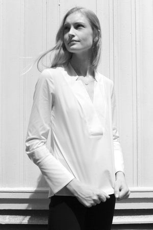 Bleecker white blouse for women - Less than none Greater than