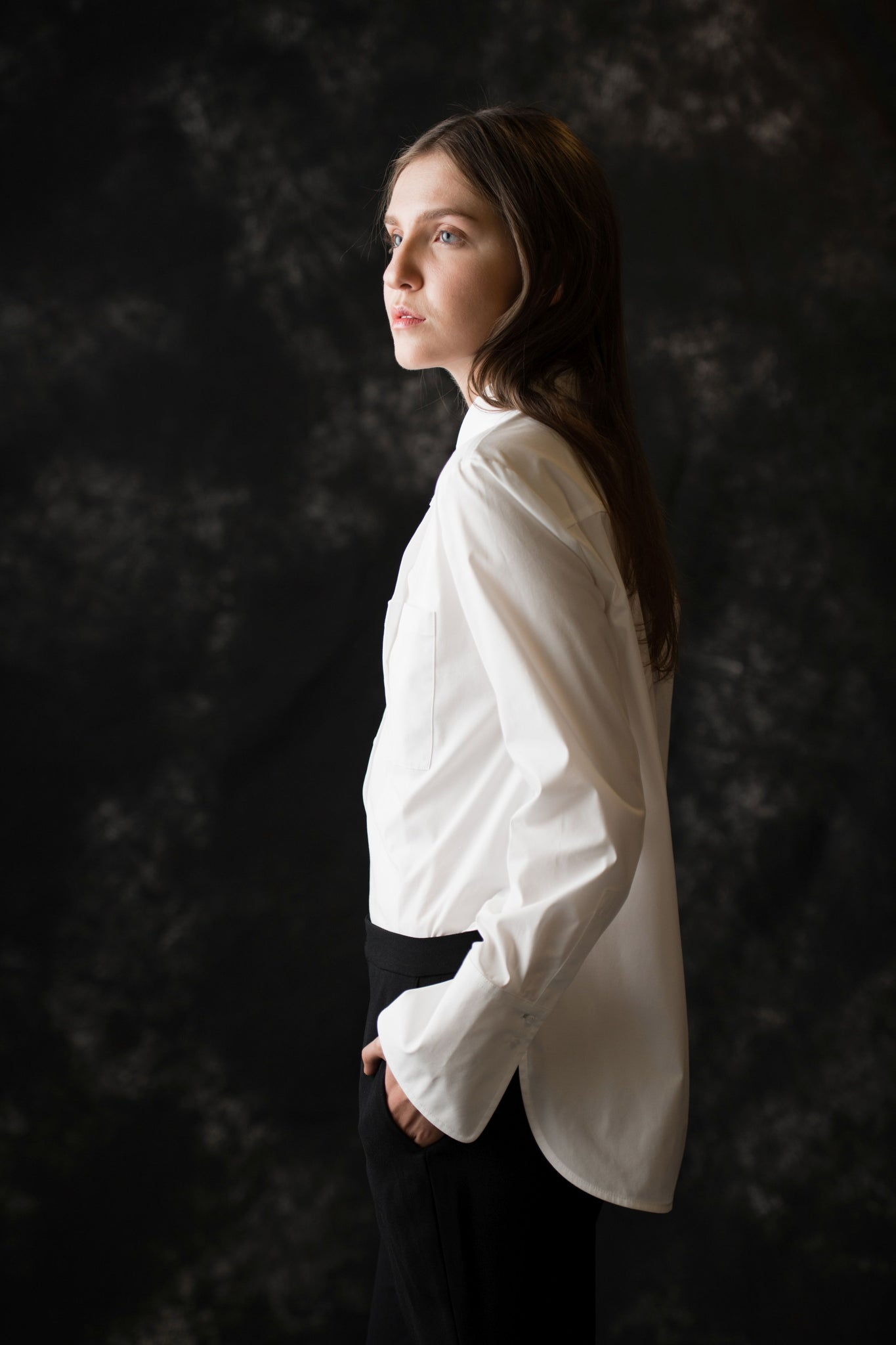 Essex Button Down women's white blouse - Less than none Greater than