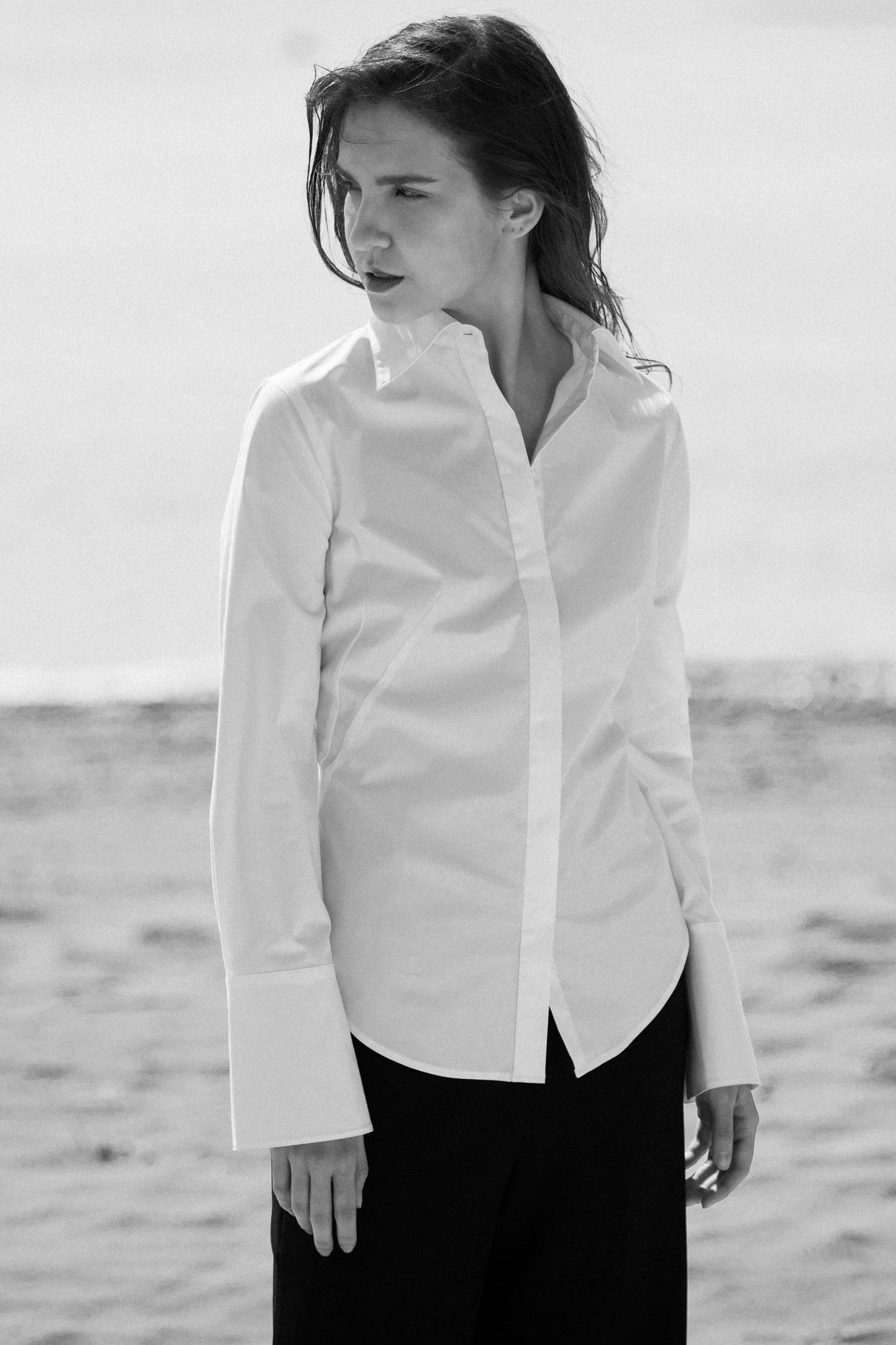 Bedford Button Down women's white blouse - Less than none Greater than