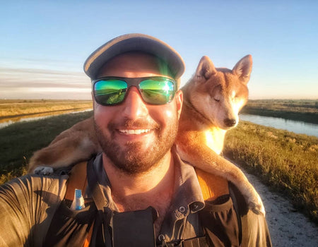 Blind Dog & Her Dad Go On 1,100-Mile Hike On Florida Trail