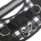 Black and White Plaid Harness