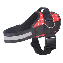 Pug Life Harness - Patriotic Red