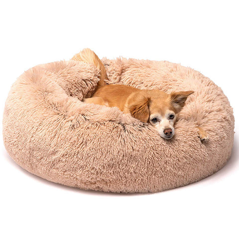 Joyride Harness Cuddly Donut Dog Bed