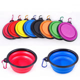 Portable & Collapsible Silicone Dog Travel Bowl (Free Bonus Clip)