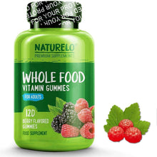 Load image into Gallery viewer, NATURELO® Health and Beauty Whole Food Vitamin Gummies for Adults with Natural Vitamins - 120 Gums | 1 Month Supply (Vegan)