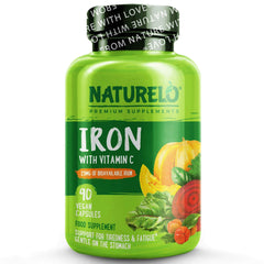 NATURELO® United Kingdom Iron with Vitamin C & Iron-Rich Food Blend