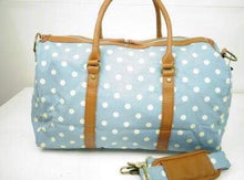 Premium Little Bundles of Joy Twin Maternity Box Blue/White Spot Duffle