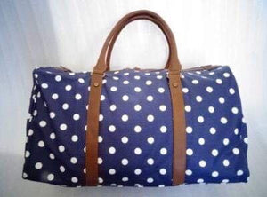 Premium Little Bundles of Joy Twin Maternity Box Navy/White Spot Duffle