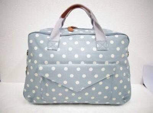 Premium Little Bundles of Joy Maternity Box Blue/White Spot Nappy Bag