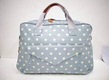 Premium Little Bundles of Joy Twin Maternity Box Blue/White Spot Nappy Bag