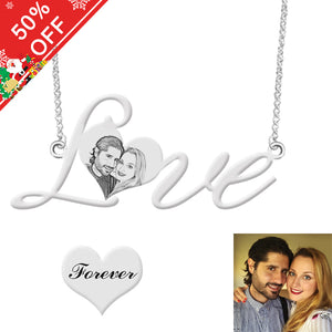 Personalized Photo Love-Heart Necklace 925 Silver