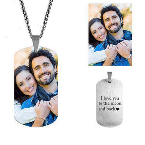 Customize Photo Necklace Of Titanium Steel