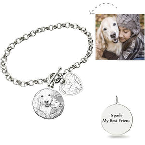 Photo Engraved Bracelet Sterling Silver