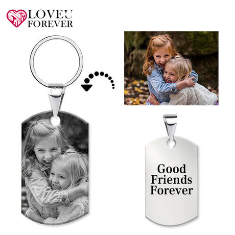 Photo Engraved Keychain