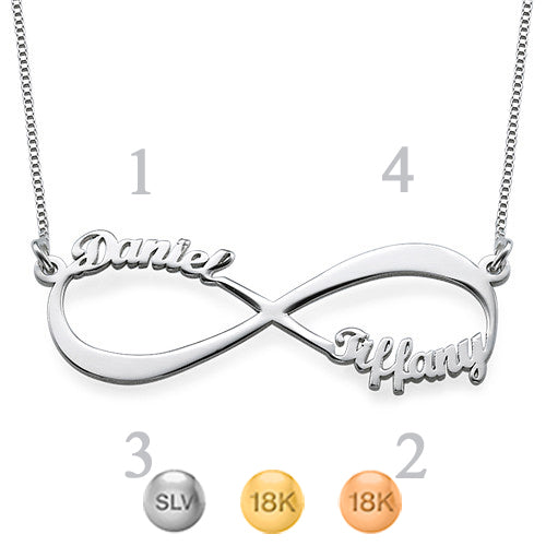 Infinity Up To 4 Name Necklace