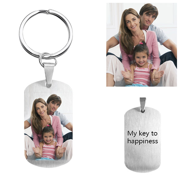 Customize Photo Keychain Titanium Steel