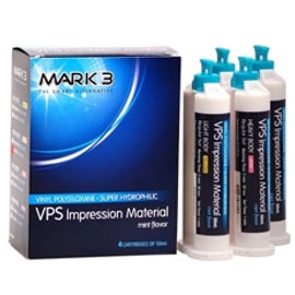 VPS Impression Material Heavy Regular Set 50ml. Cartridges 4/bx. - MARK3