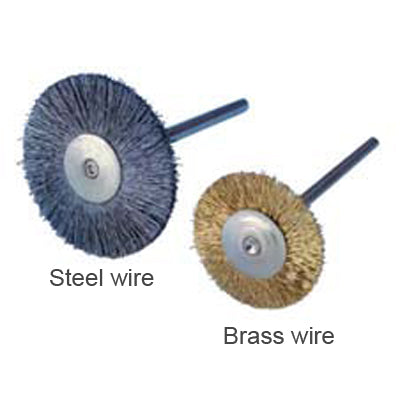 "3/4"" Brass Wire HP Rotary Brush, Pkg. of 12 7460"